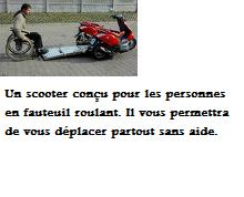 scooter pour handicapee